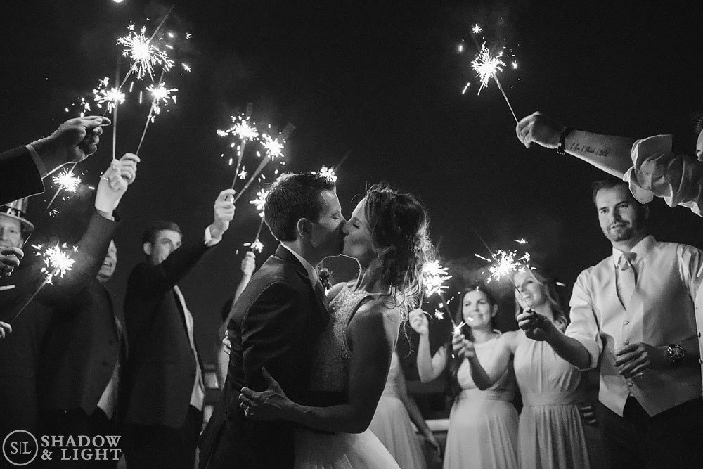 chase park plaza st louis wedding sparklers