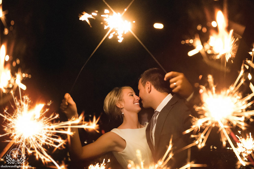beautiful aries winery wedding reception sparklers