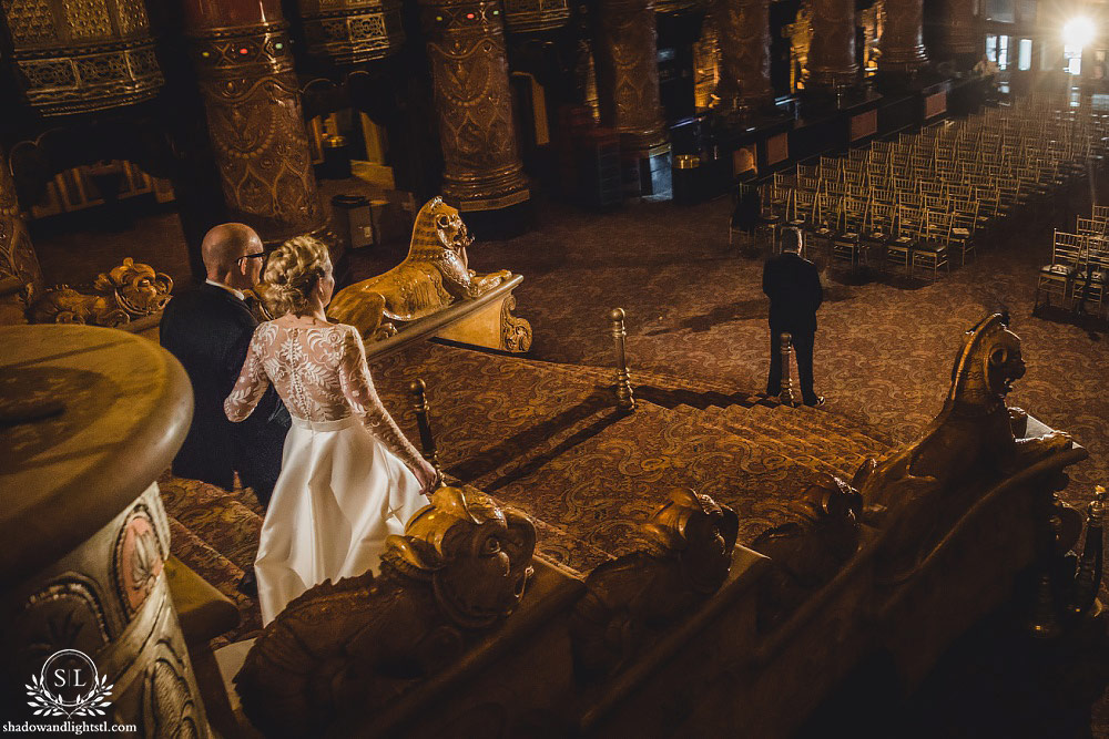 st louis fabulous fox theater wedding photography