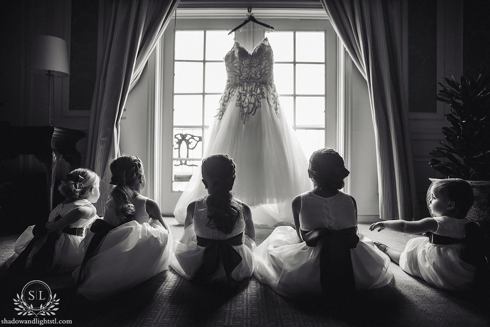 ritz carlton st louis wedding flower girls
