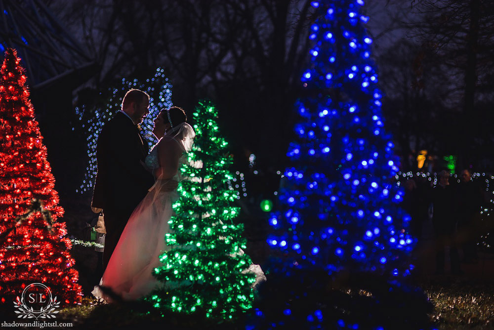 missouri botanical gardens garden glow wedding photography