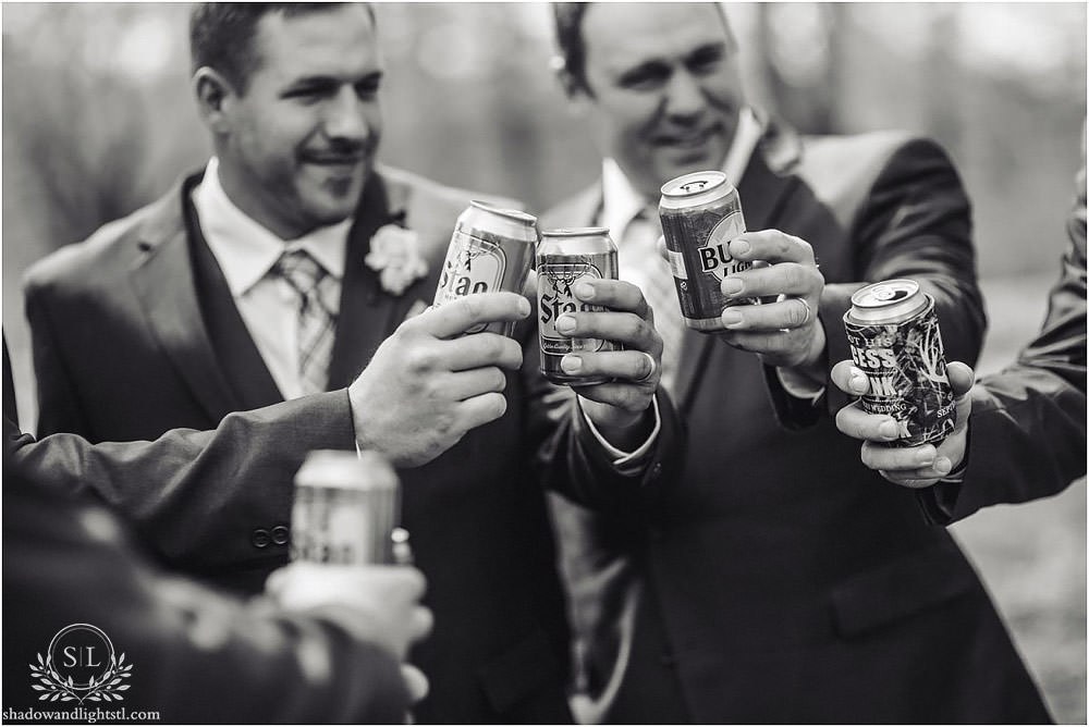 st louis forest park wedding stag beer