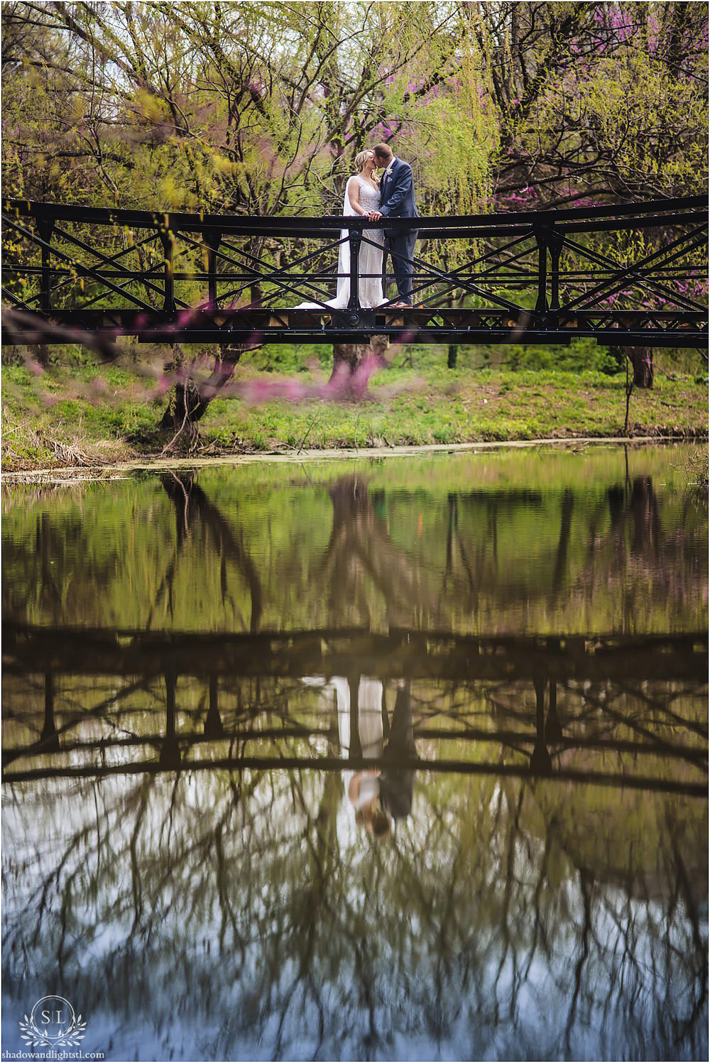 st louis forest park wedding bridge