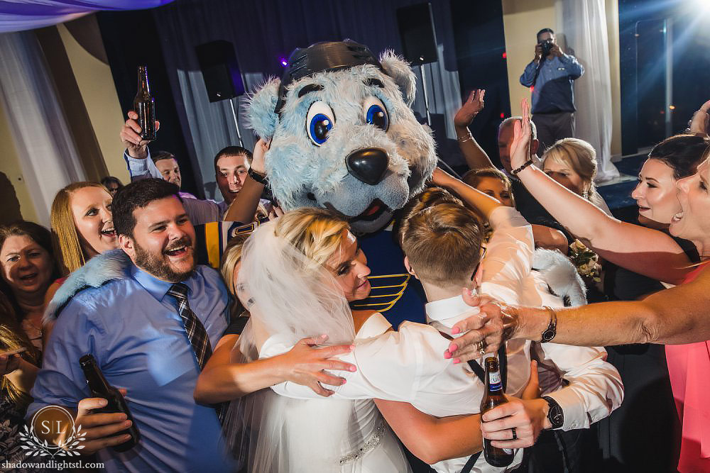 St Louis Blues Wedding Photo