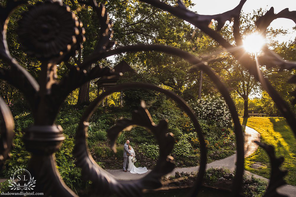 lafayette park wedding bride and groom photos