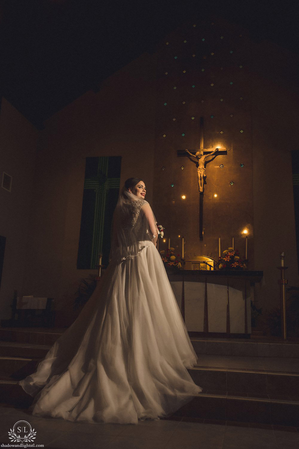 beautiful st louis catholic wedding