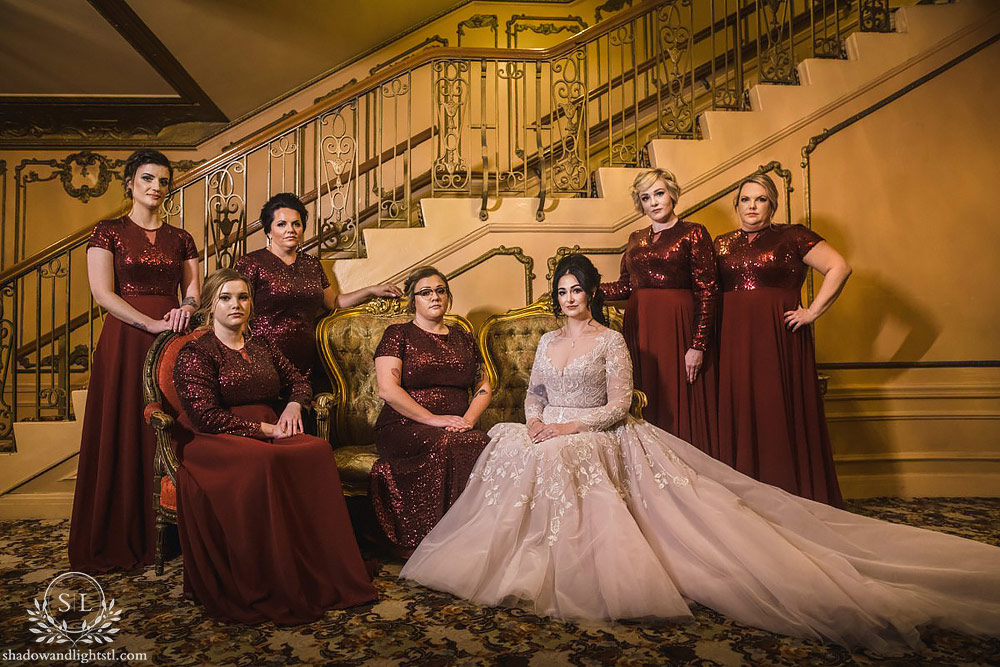 fox theater bride and bridesmaids