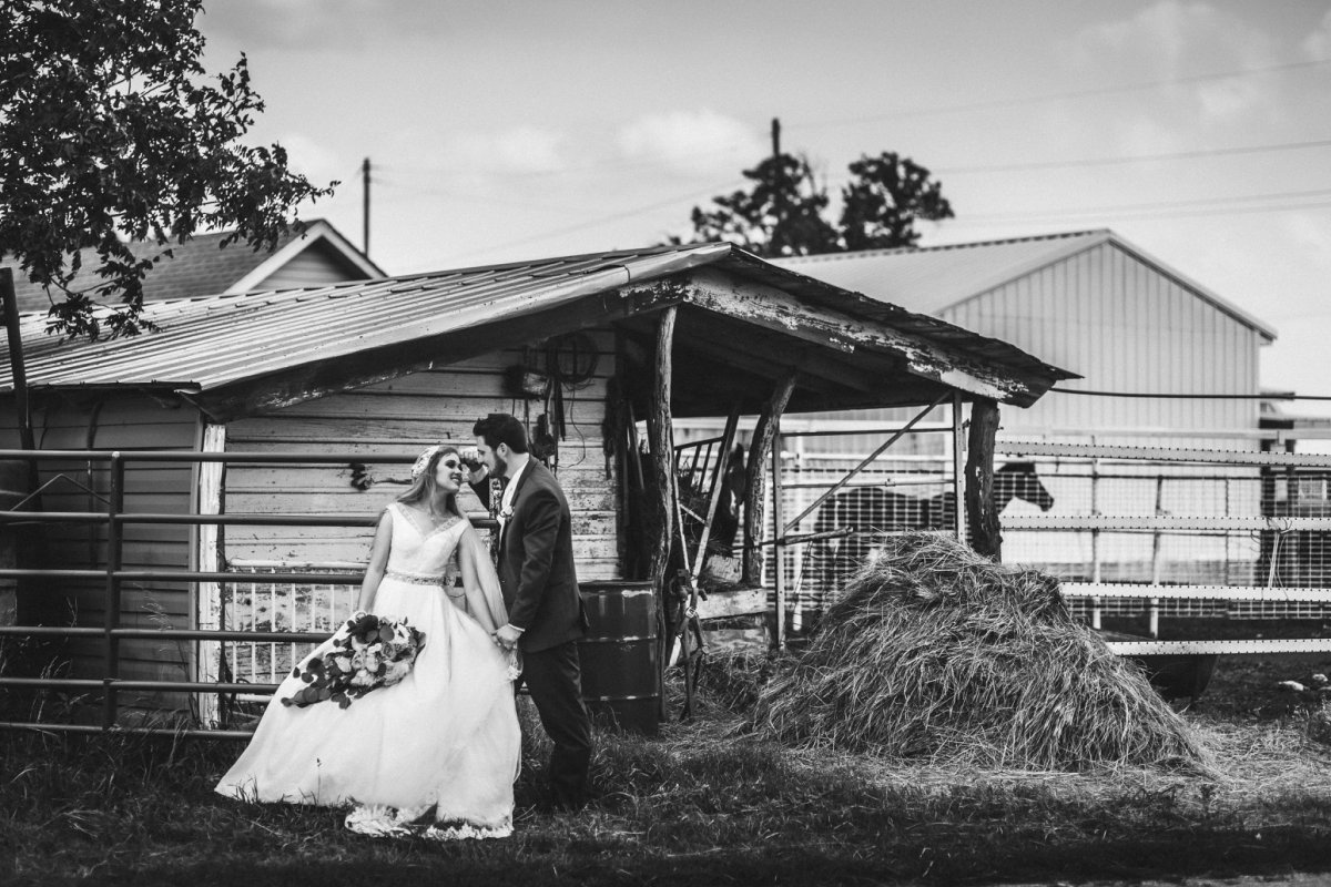 wichita union stockyards wedding photo